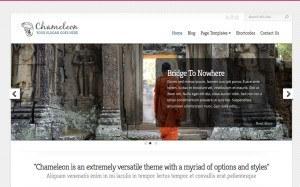 Et annet eksempel på wordpress tema med banner i bredde format