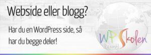 Har webside – vil ha blogg!
