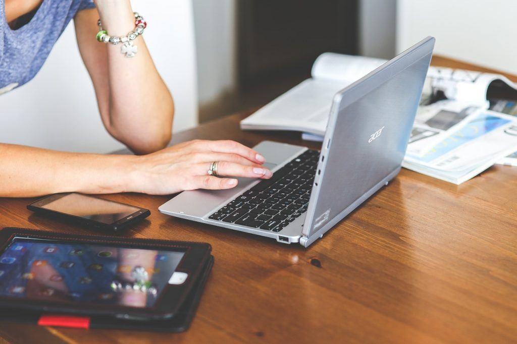 skrive til nettsiden