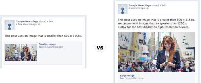 Anbefalt størrelse på bilder for facebook deling.