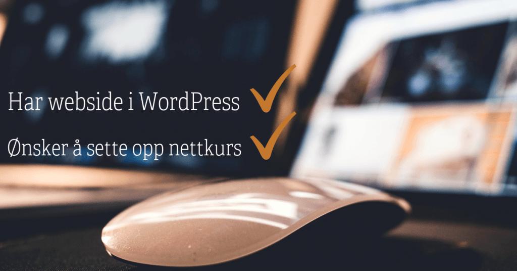 Ønsker du å sette opp nettkurs på WordPress siden din?