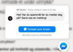 Messenger Chat på nettsiden din