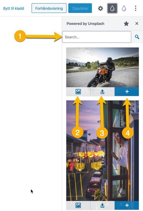 Søk etter bilder