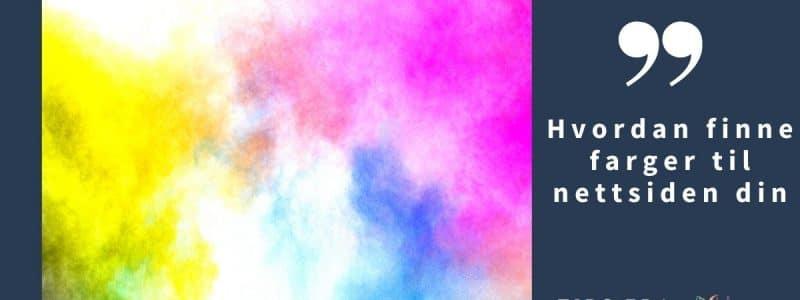 Hvordan finne farger til nettsiden