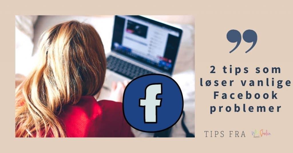 facebook problemer
