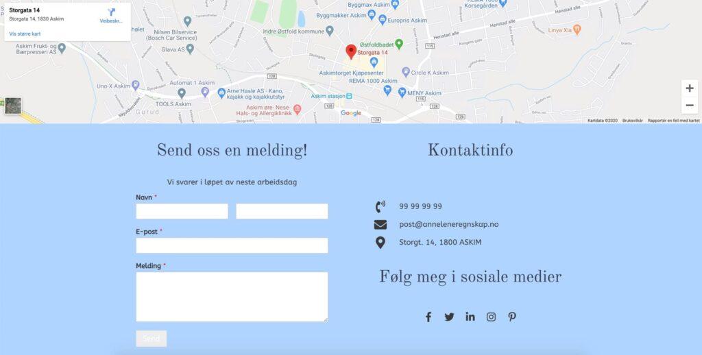 Regnskap – Kontakt/Kart