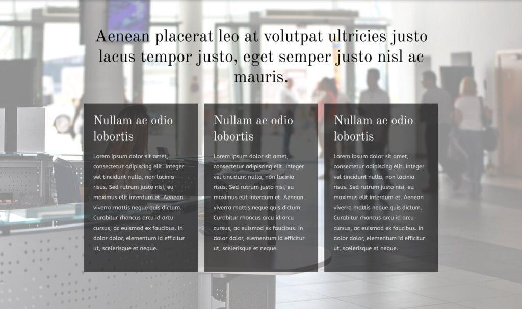 Regnskap – Tittel + 3 kolonner