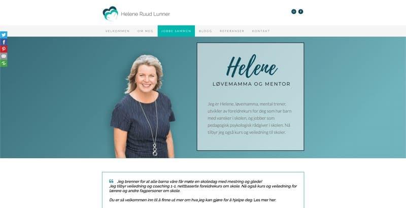 Nettsiden til Helen Lunner